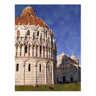 Impressitaly Pisa Battistero Postcard
