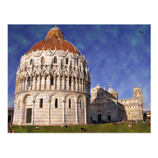 Impressitaly Pisa Miracoli Postcard