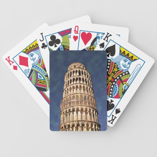 Impressitaly Pisa Tower Bicycle Playing Cards