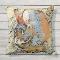 Impressive Animal - Bunny Throw Pillow