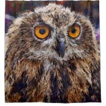 Impressive Animal - Owl Shower Curtain