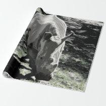 impressive animal- rhino wrapping paper
