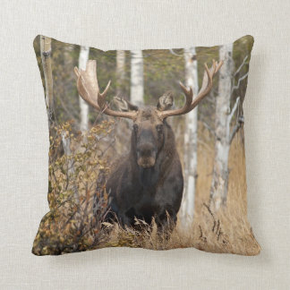Impressive Bull Moose Throw Pillow