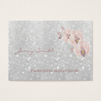 Impressive cheerful gentle bokeh orchid business card