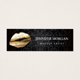 3d business cards templates zazzle impressive eye catching 3d gold lips makeup artist mini business card fbccfo Choice Image