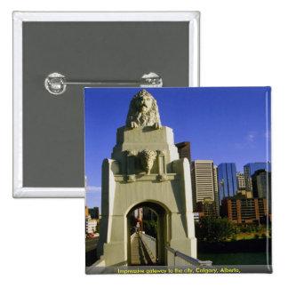 Impressive gateway to the city, Calgary, Alberta, Pins