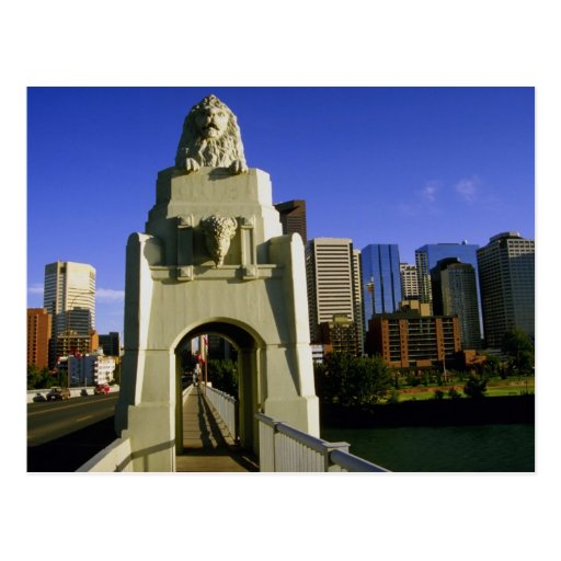 Impressive gateway to the city, Calgary, Alberta, Postcards