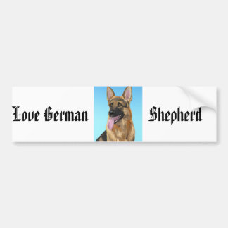 Impressive German Shepherd with his Tongue Out Bumper Stickers