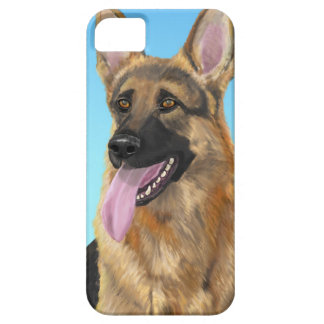 Impressive German Shepherd with his Tongue Out iPhone SE/5/5s Case