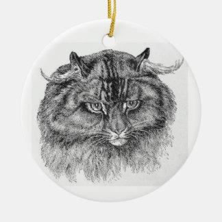 Impressive Main Coon Cat Artwork Ornament