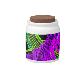 impressive moments full of color- neon colored candy jar
