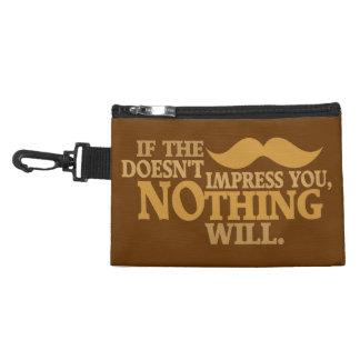 Impressive Moustache custom color accessory bag