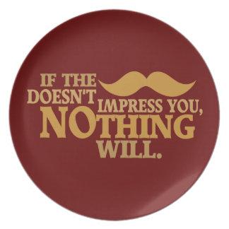 Impressive Moustache custom color dinner plate