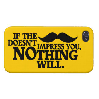 Impressive Moustache custom color iPhone cases