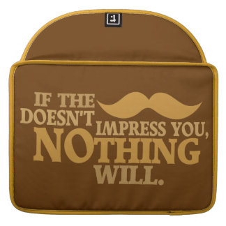 Impressive Moustache custom color MacBook sleeve