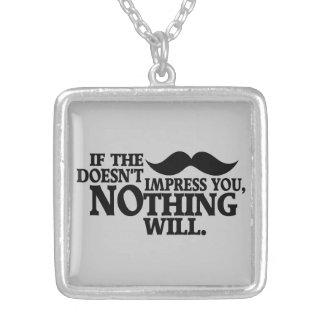 Impressive Moustache custom color necklace