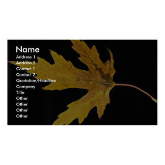 Impressive  Silver maple leaf Business Card