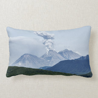 Impressive summer volcano landscape lumbar pillow