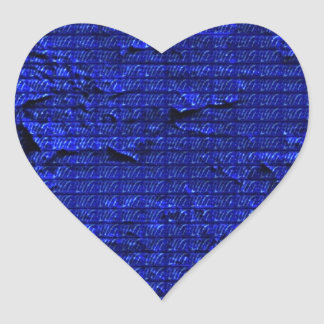 impressive texture, blue heart sticker
