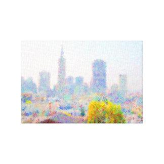 Impresso® Skyline by MB7Art Stretched Canvas Prints