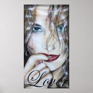 Imprimes Lover print poster women painting gemälde