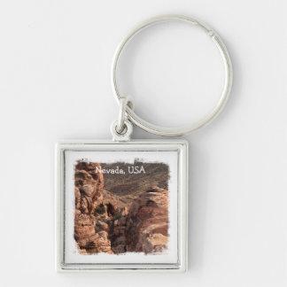 Imprint of a Man; Nevada Souvenir Keychain