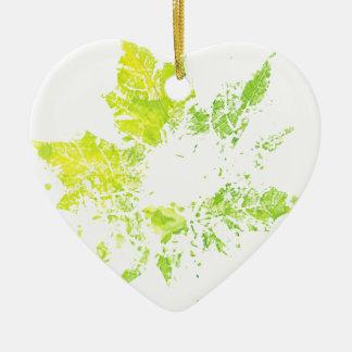 Imprint of Maple Leaf Ceramic Ornament
