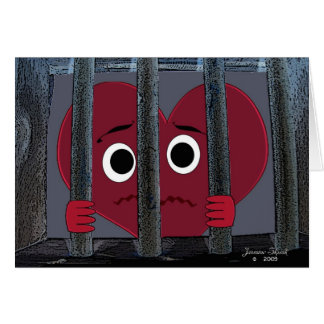 Imprisoned Heart Valentine Greeting Cards