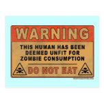 Impropio amonestador para el consumo del zombi postal
