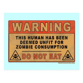 Impropio amonestador para el consumo del zombi postales