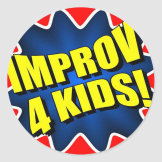 Improv 4 Kids Classic Round Sticker