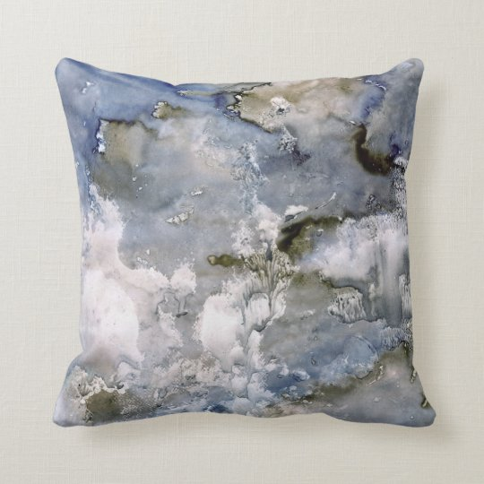 Improv Watercolor Series Abstract Throw Pillow