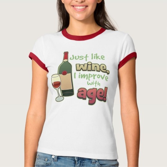 Improve With Age Ladies Ringer Tee Shirt