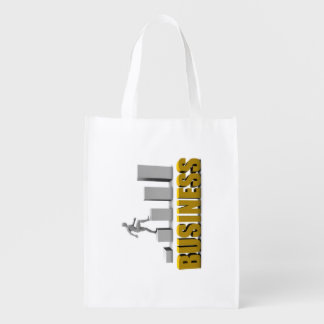 Improve Your Business  or Business Process Reusable Grocery Bag
