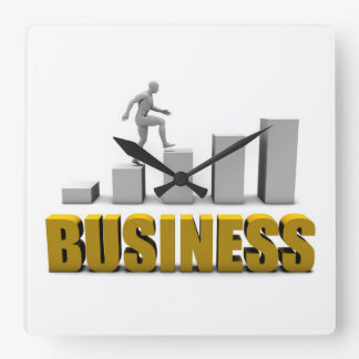 Improve Your Business  or Business Process Square Wall Clock