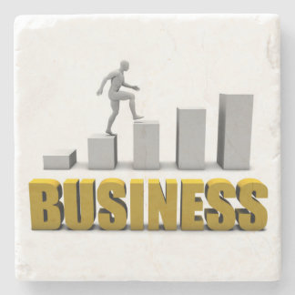 Improve Your Business  or Business Process Stone Coaster