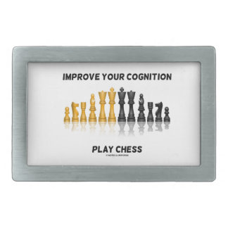Improve Your Cognition Play Chess (Chess Set) Belt Buckle