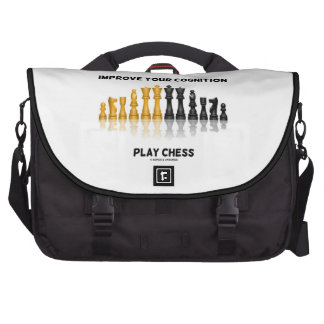 Improve Your Cognition Play Chess (Chess Set) Laptop Messenger Bag