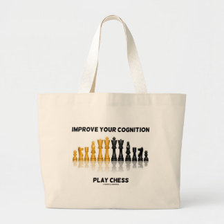 Improve Your Cognition Play Chess Large Tote Bag