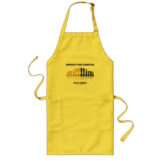 Improve Your Cognition Play Chess Long Apron