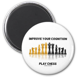 Improve Your Cognition Play Chess Refrigerator Magnets