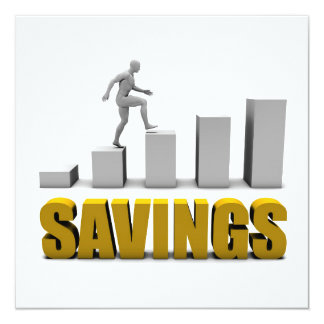 Improve Your Savings or Business Process as Concep Card