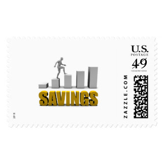 Improve Your Savings or Business Process as Concep Postage Stamp