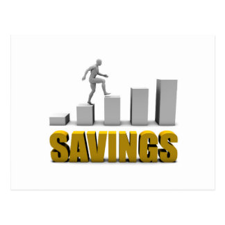 Improve Your Savings or Business Process as Concep Postcard