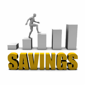 Improve Your Savings or Business Process as Concep Statuette