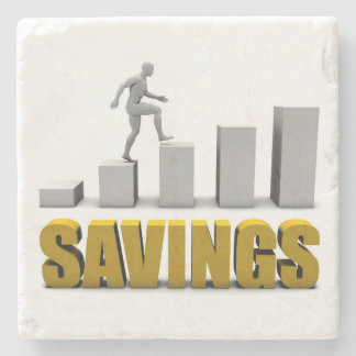 Improve Your Savings or Business Process as Concep Stone Coaster
