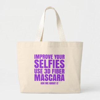 Improve your selfies large tote bag