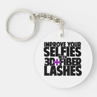 Improve your selfies with 3d + Fiber Lashes Keychain