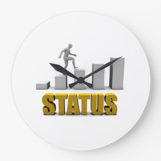 Improve Your Status or Business Process as Concept Large Clock