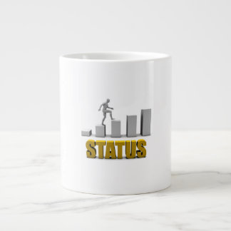 Improve Your Status or Business Process as Concept Large Coffee Mug